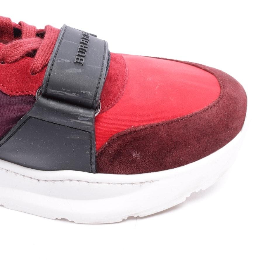 Sneaker von Burberry in Rot und Schwarz Gr. EUR 45