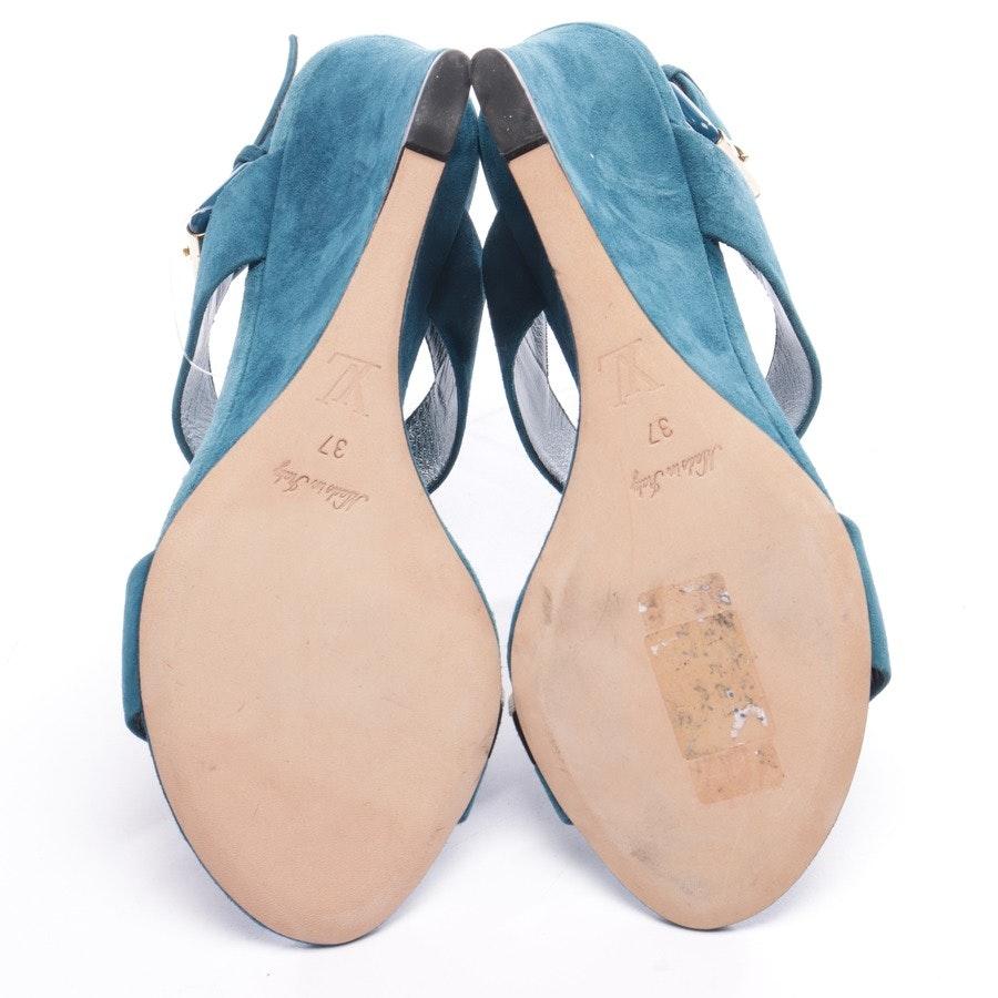 Sandaletten von Louis Vuitton in Petrol und Mehrfarbig Gr. EUR 37 Neu