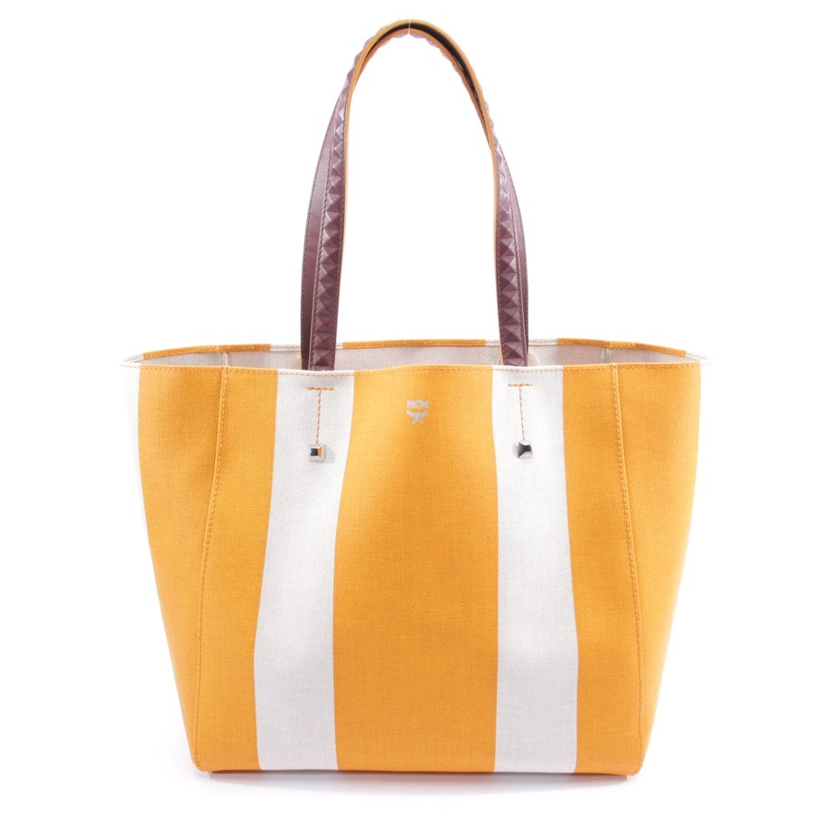 shopper from MCM in beige and orange - mwp8svw50 - new