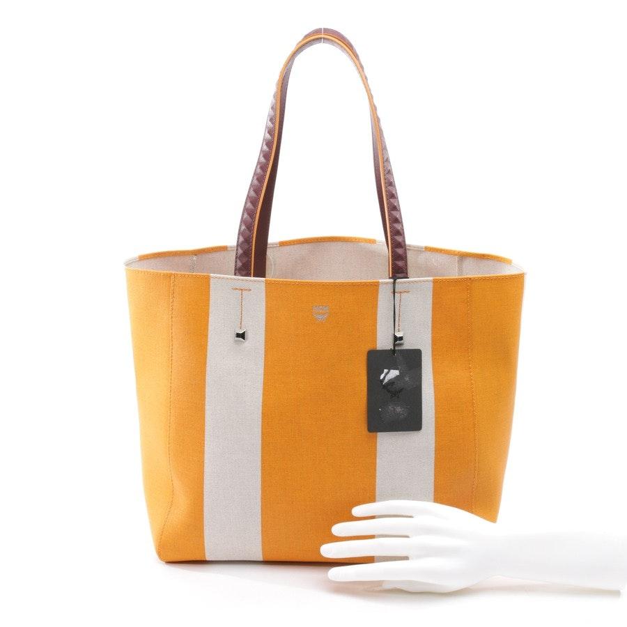 Shopper von MCM in Orange und Beige - MWP8SVW50 - NEU