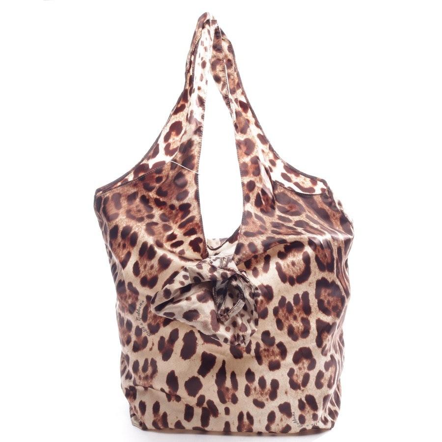 Stoff- / Kunststofftasche von Dolce & Gabbana in Braun und Beige