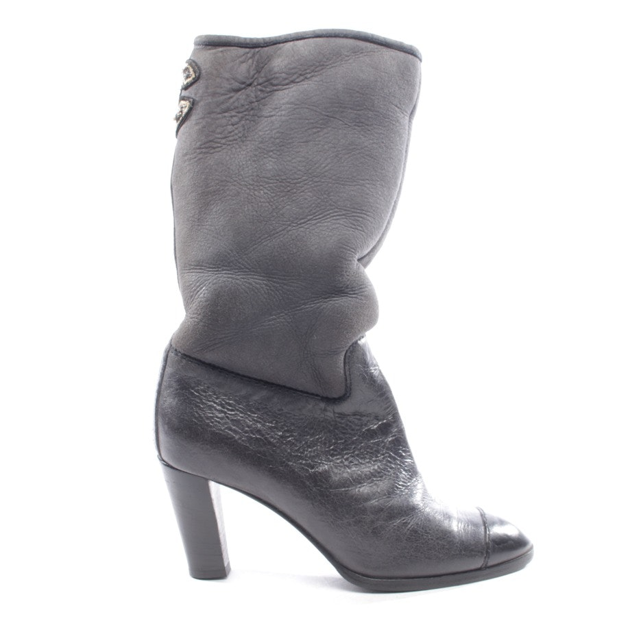 boots from Chanel in dark grey size D 37