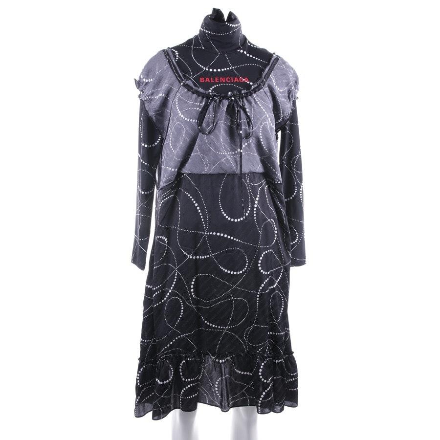 Kleid von Balenciaga in Schwarz und Weiß Gr. 34