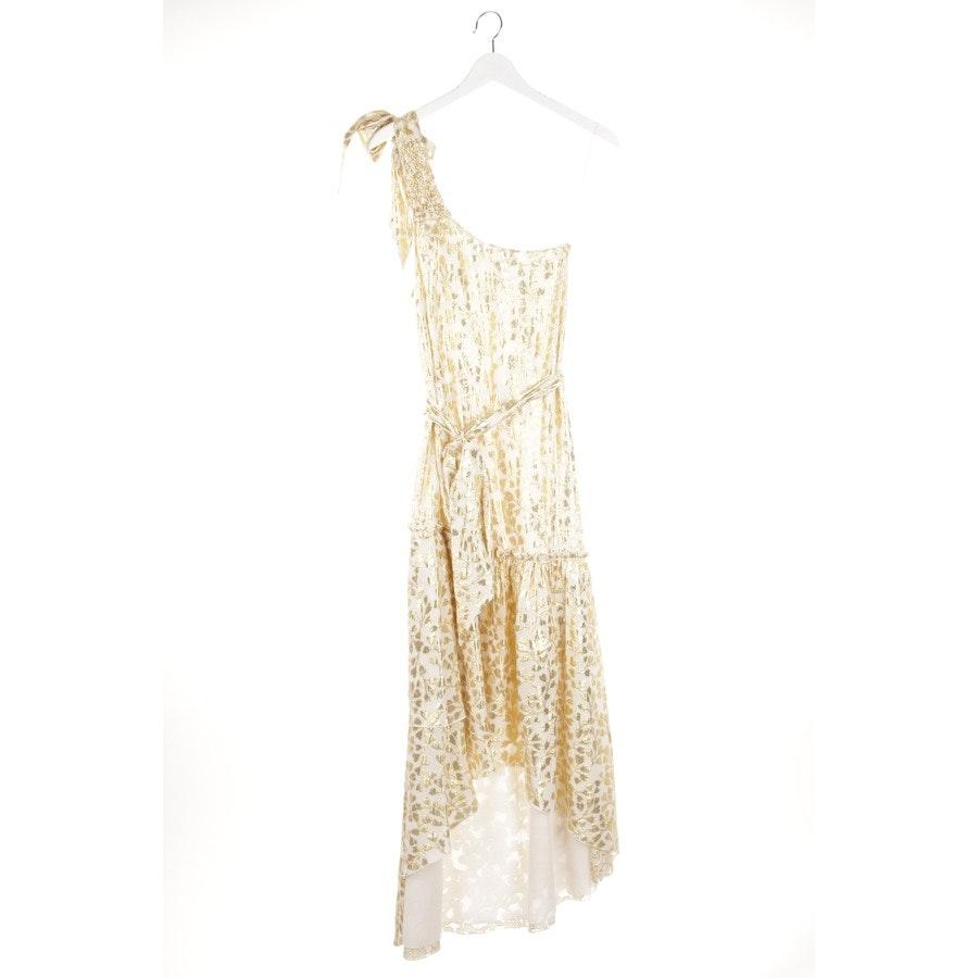 Abendkleid von Paloma Blue in Altweiß und Gold Gr. XS