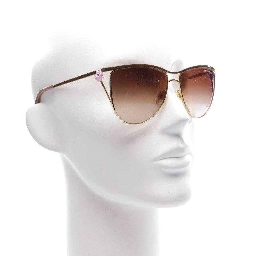Sonnenbrille von Emporio Armani in Gold und Cognac EA 2022