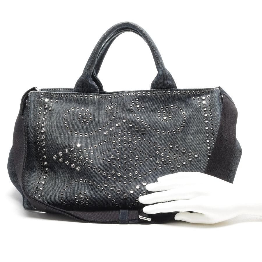 Handtasche von Prada in Dunkelblau und Weiß