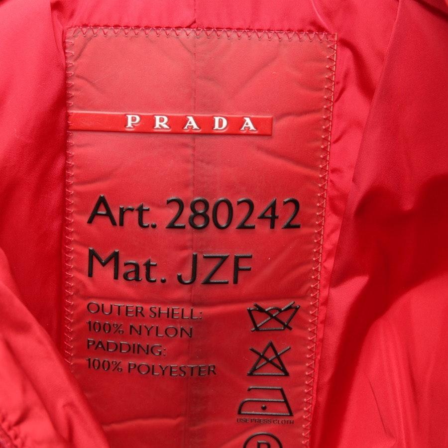 winter coat from Prada Linea Rossa in red size 32 IT 38