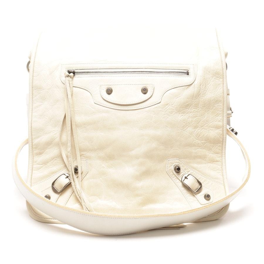 Umhängetasche von Balenciaga in Weiss Folk Messenger Bag