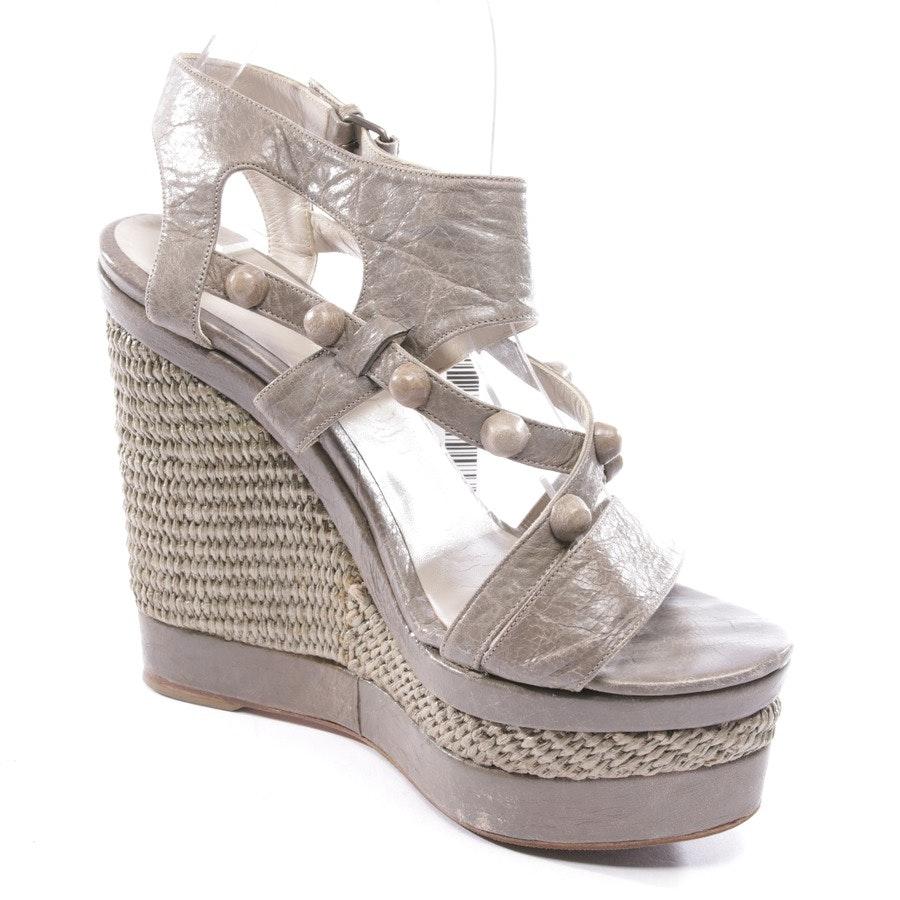 Sandaletten von Balenciaga in Taupe Gr. D 38