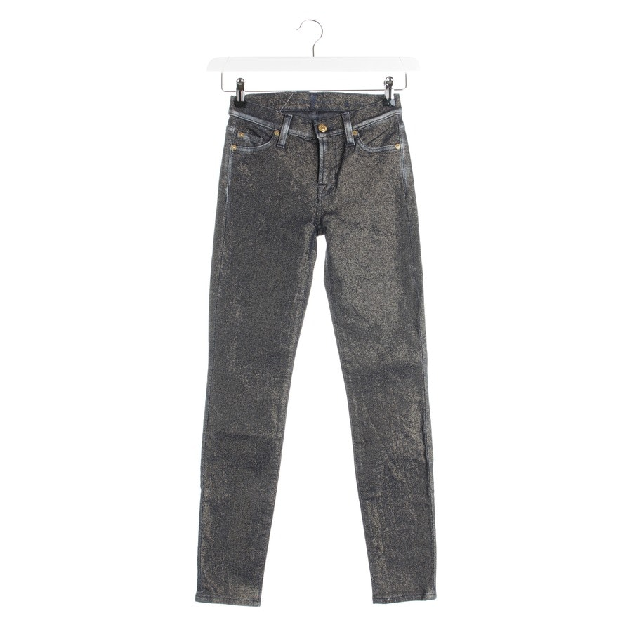 jeans from 7 for all mankind in dark blue and gold size W25