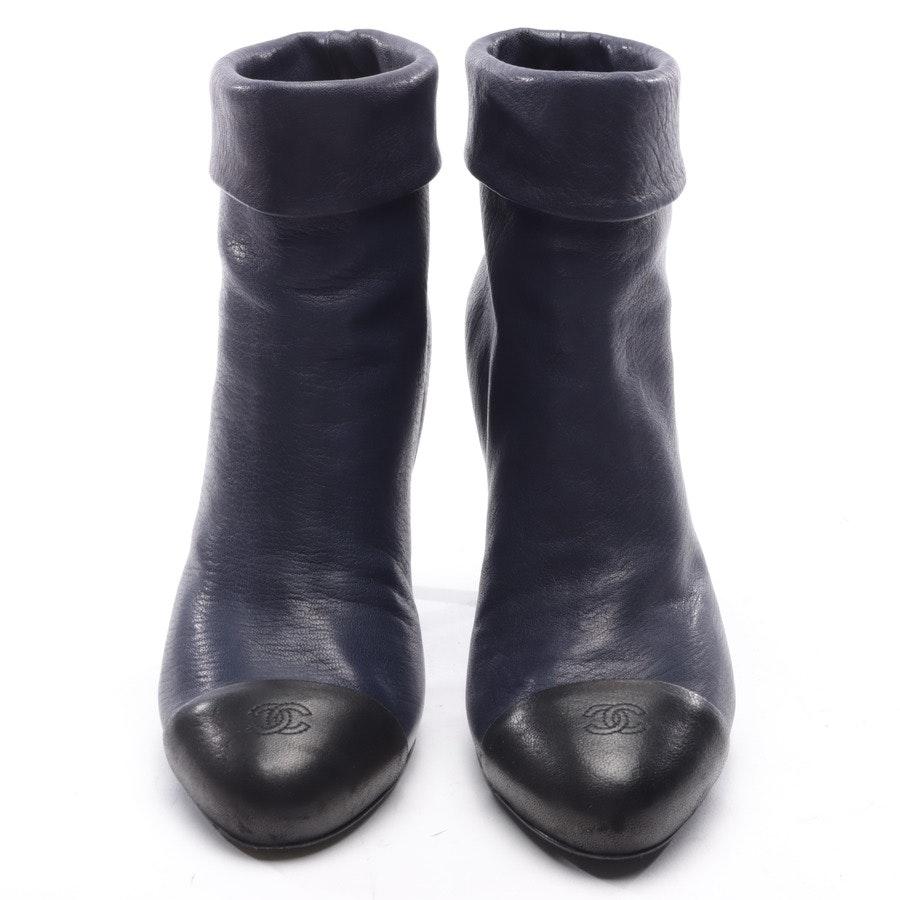 Stiefeletten von Chanel in Blau und Schwarz Gr. EUR 38,5