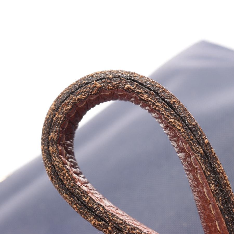 Handtasche von Longchamp in Dunkelblau und Braun Le Pliage S