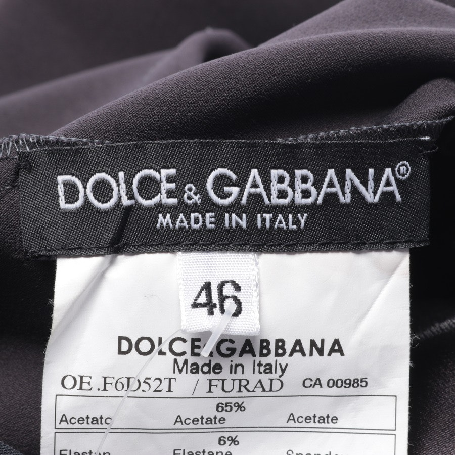 Cocktailkleid von Dolce & Gabbana in Anthrazit Gr. 40 IT 46