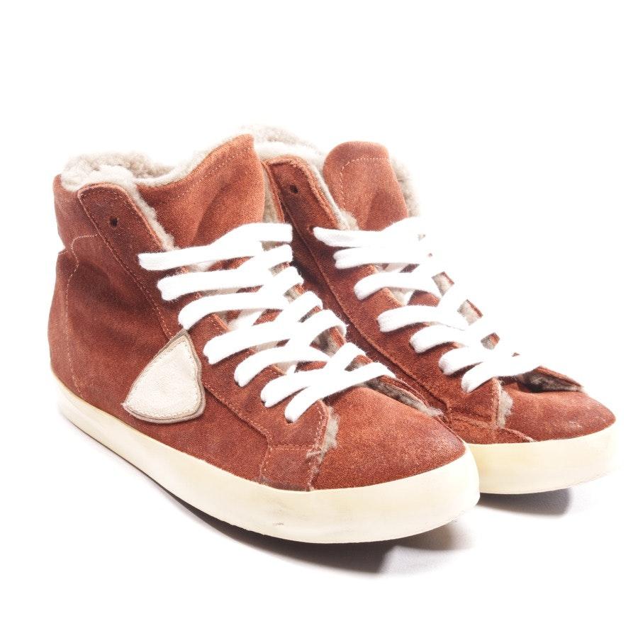 High-Top Sneaker von Philippe Model in Rotbraun Gr. D 36
