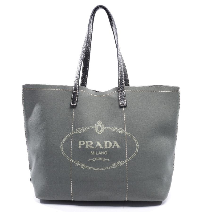 Shopper von Prada in Smaragdgrün und Schwarz