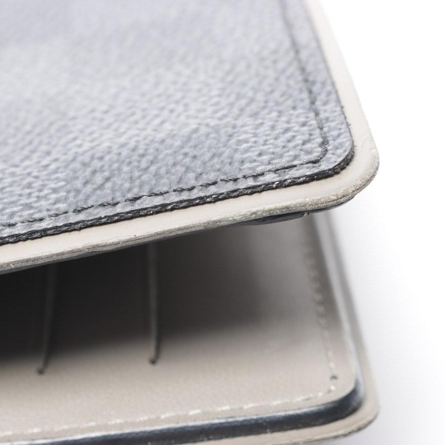 Geldbörse von Louis Vuitton in Grau und Schwarz