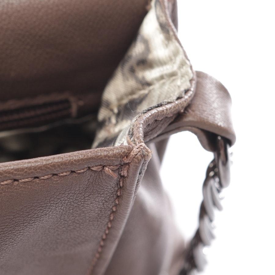 Schultertasche von Longchamp in Schokolade