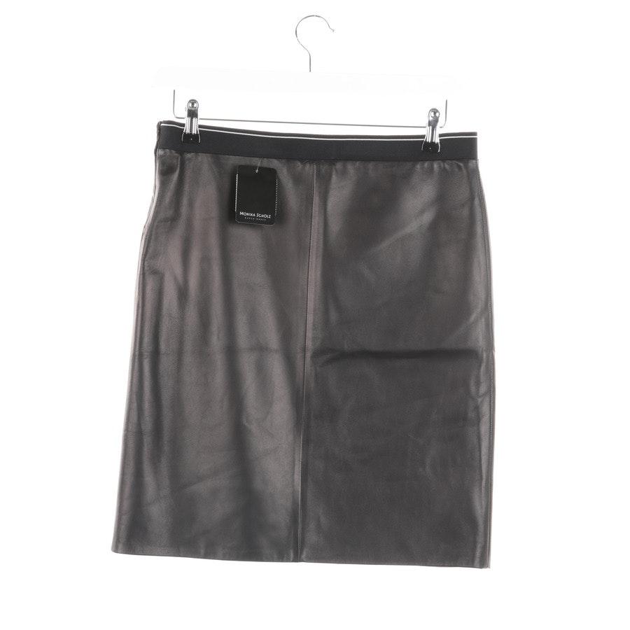 skirt from Prada in Black size 34 IT 40 Leder Neu