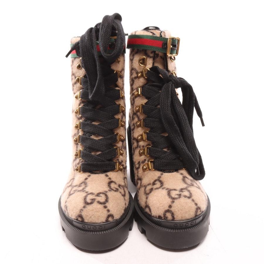 Stiefeletten von Gucci in Beige und Schwarz Gr. EUR 38,5 Neu