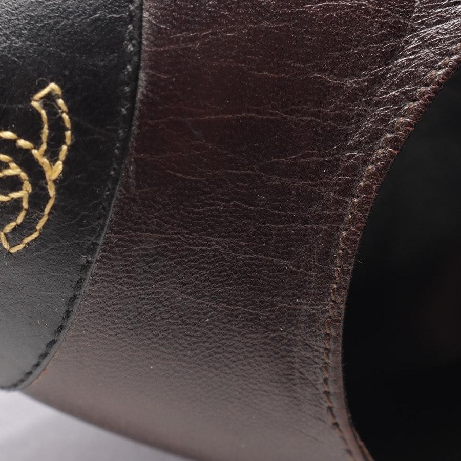 Pumps von Chanel in Dunkelbraun und Schwarz Gr. EUR 38,5