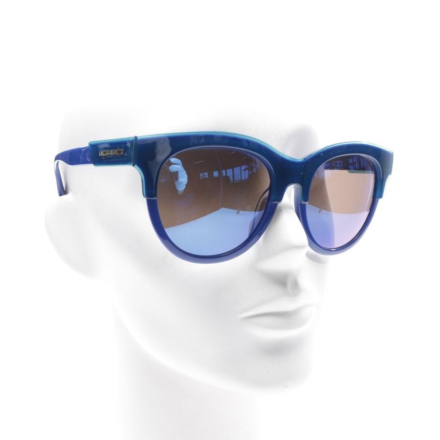 Sonnenbrille von Alexander McQueen in Blau und Blaugrün MQ0054SK Neu