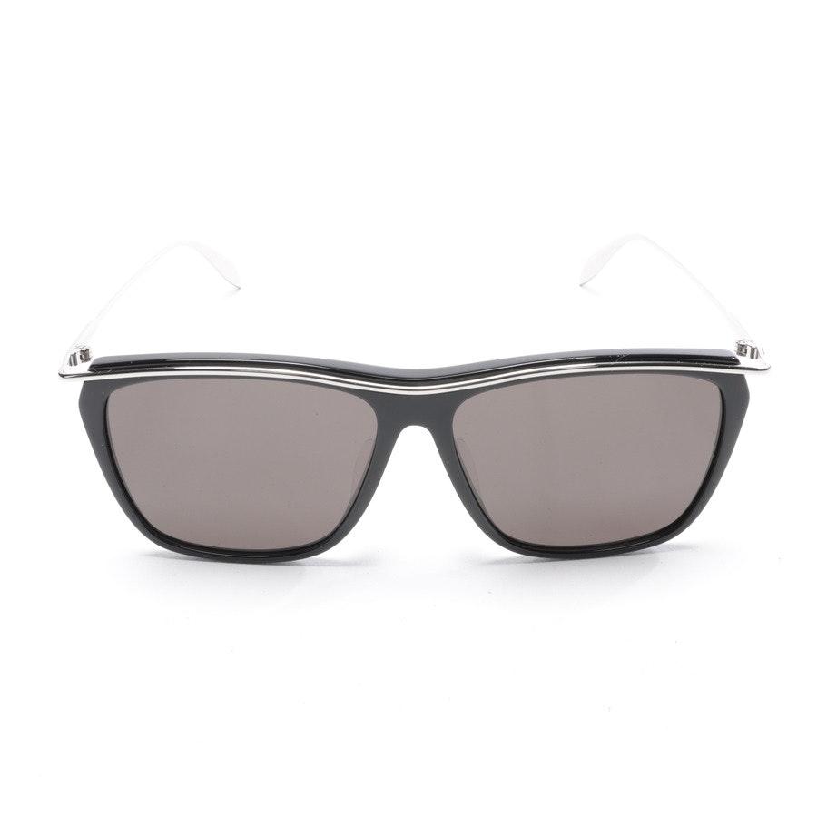 Sonnenbrille von Alexander McQueen in Schwarz und Silber AM0143SA Neu