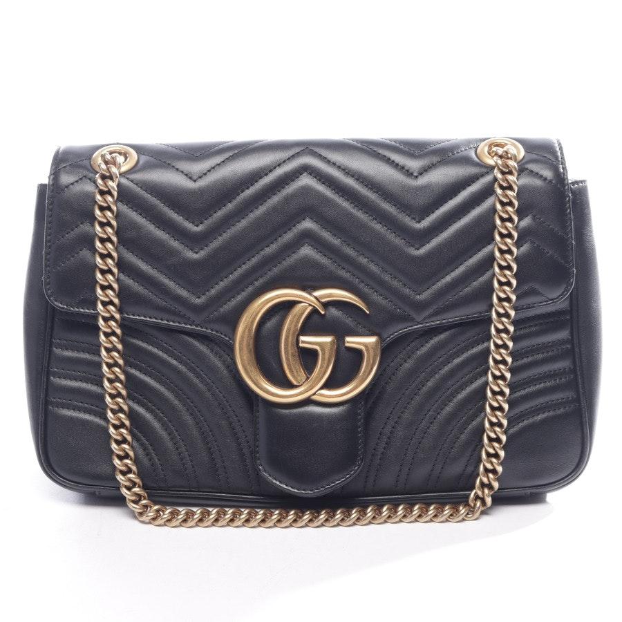 Umhängetasche von Gucci in Schwarz und Gold Marmont