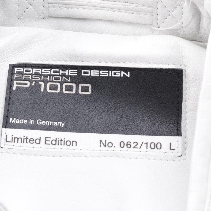 Lederjacke von Porsche Design in Weiß Gr. L