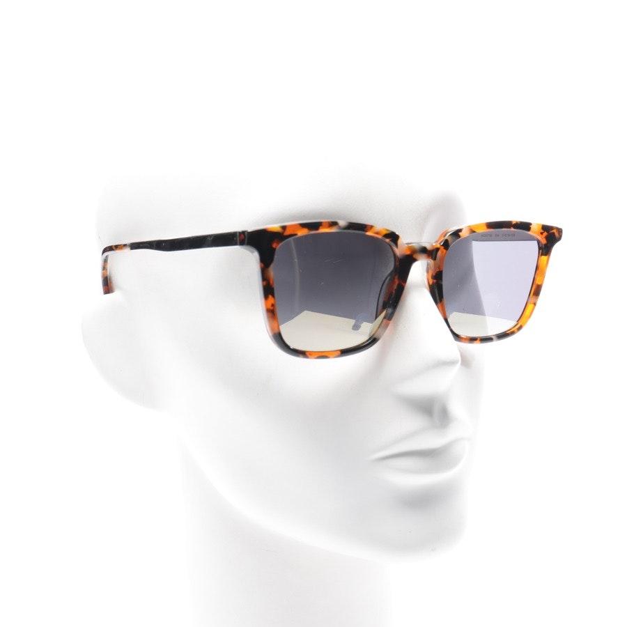 Sonnenbrille von Alexander McQueen in Dunkelorange und Mehrfarbig MQ0070S Neu