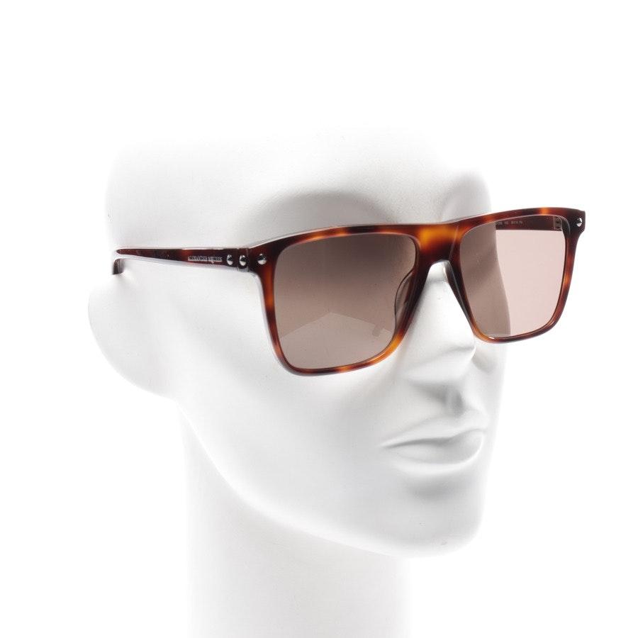 Sonnenbrille von Alexander McQueen in Braun und Beige AM0129S Neu