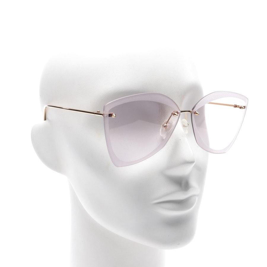 Sonnenbrille von Alexander McQueen in Gold AM0119SA Neu