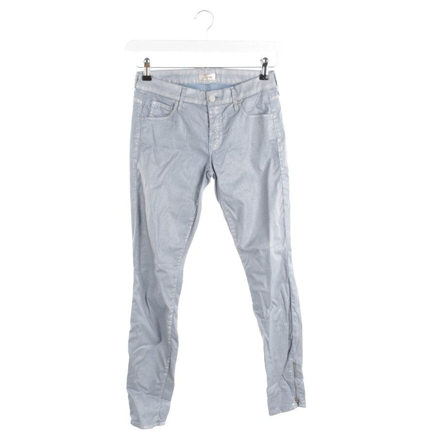 Hose von Mother in Hellblau und Silber Gr. W26 - The Looker Ankle Zip