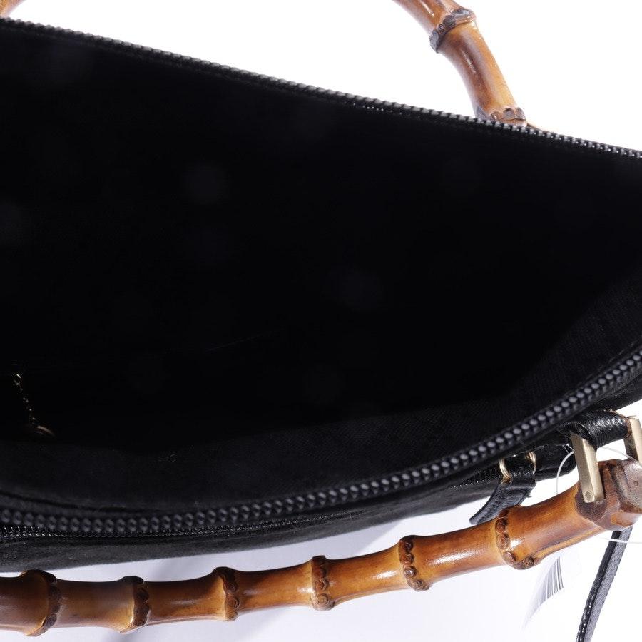 Handtasche von Gucci in Schwarz Vintage Bamboo Shoulder Tote