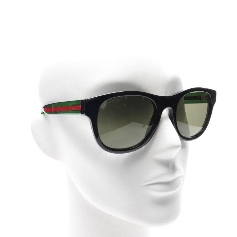 Sonnenbrille von Gucci in Schwarz und Grün GG0003S