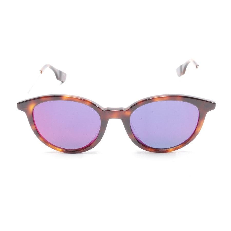 Sonnenbrille von Alexander McQueen in Braun und Beige MQ0069SA Neu