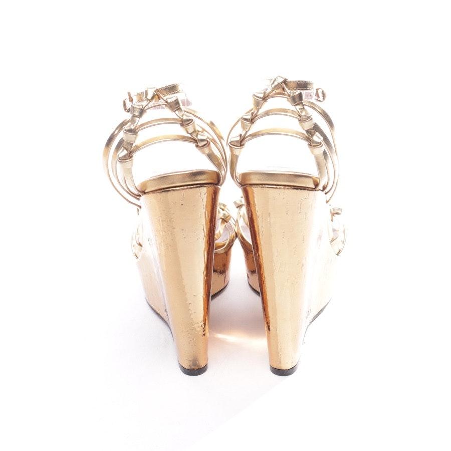 Sandaletten von Gucci in Gold Gr. EUR 37