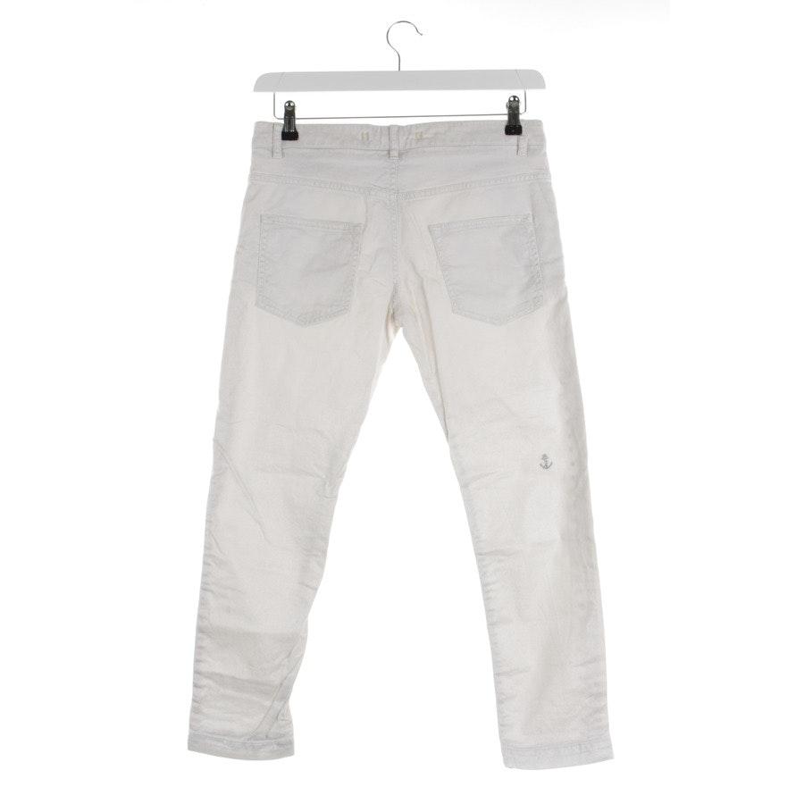 Hose von Monocrom in Weiß und Silber Gr. W27