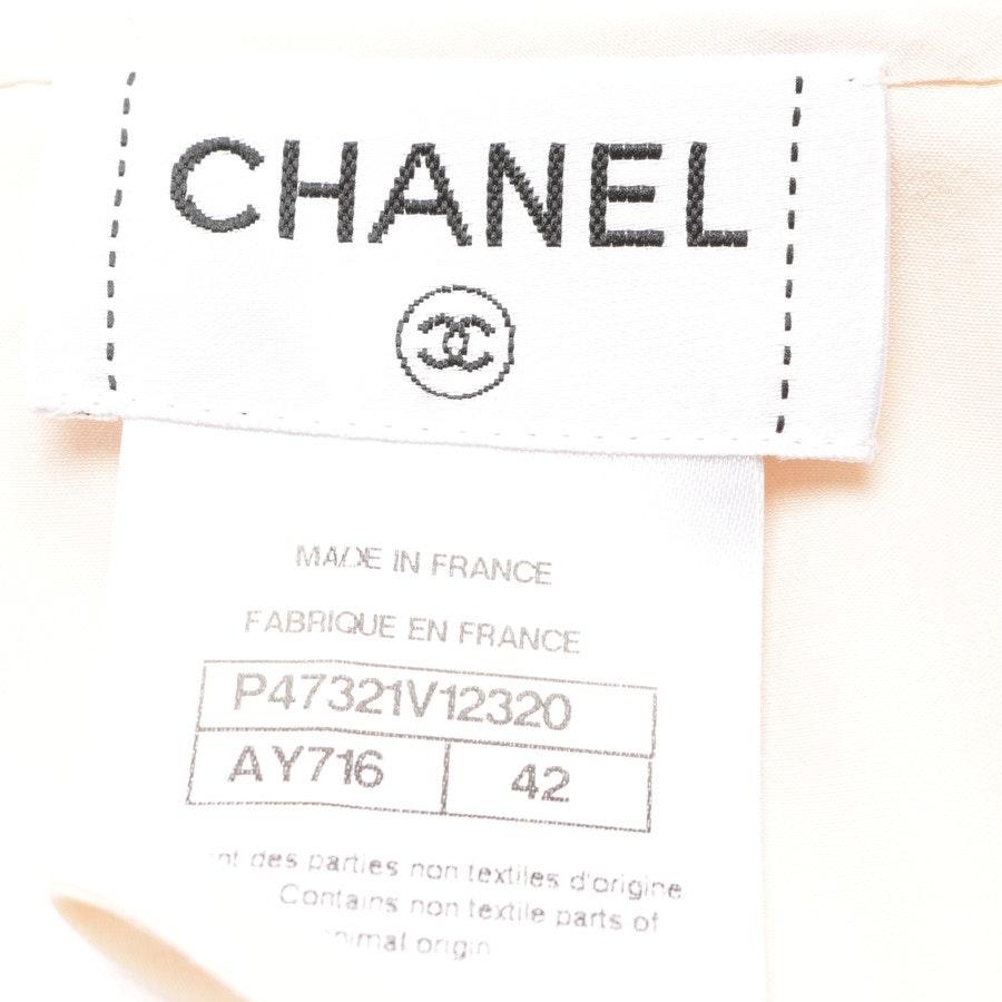 Seidenbluse von Chanel in Nude Gr. 40 FR 42