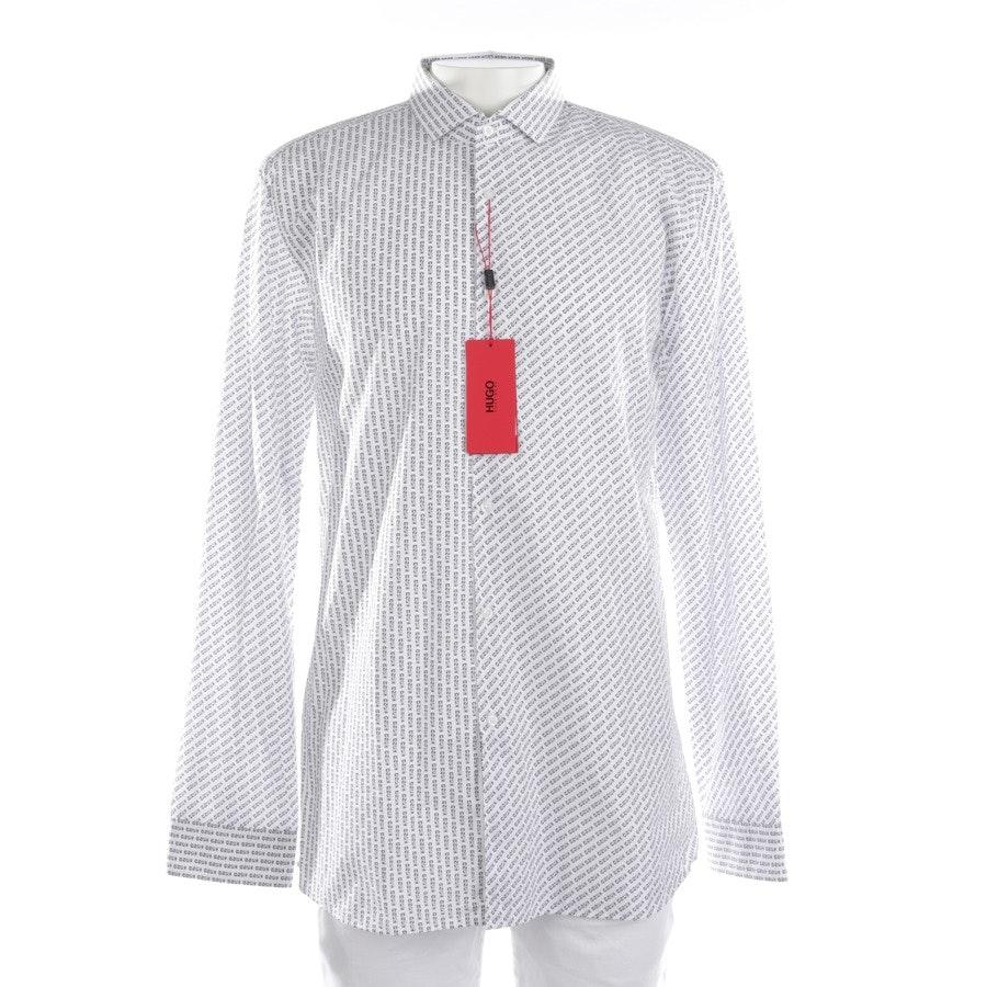 Hemd klassisch von Hugo Boss Red Label in Weiß und Schwarz Gr. 40 Neu