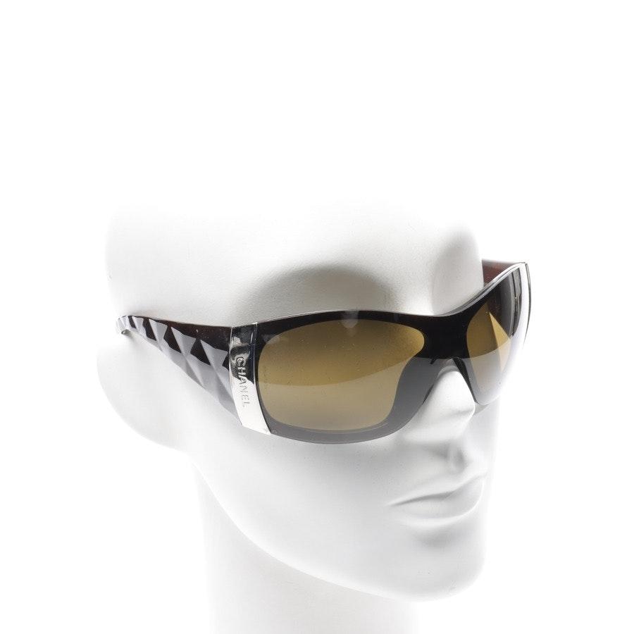 Sonnenbrille von Chanel in Cognac und Transparent c.538/73
