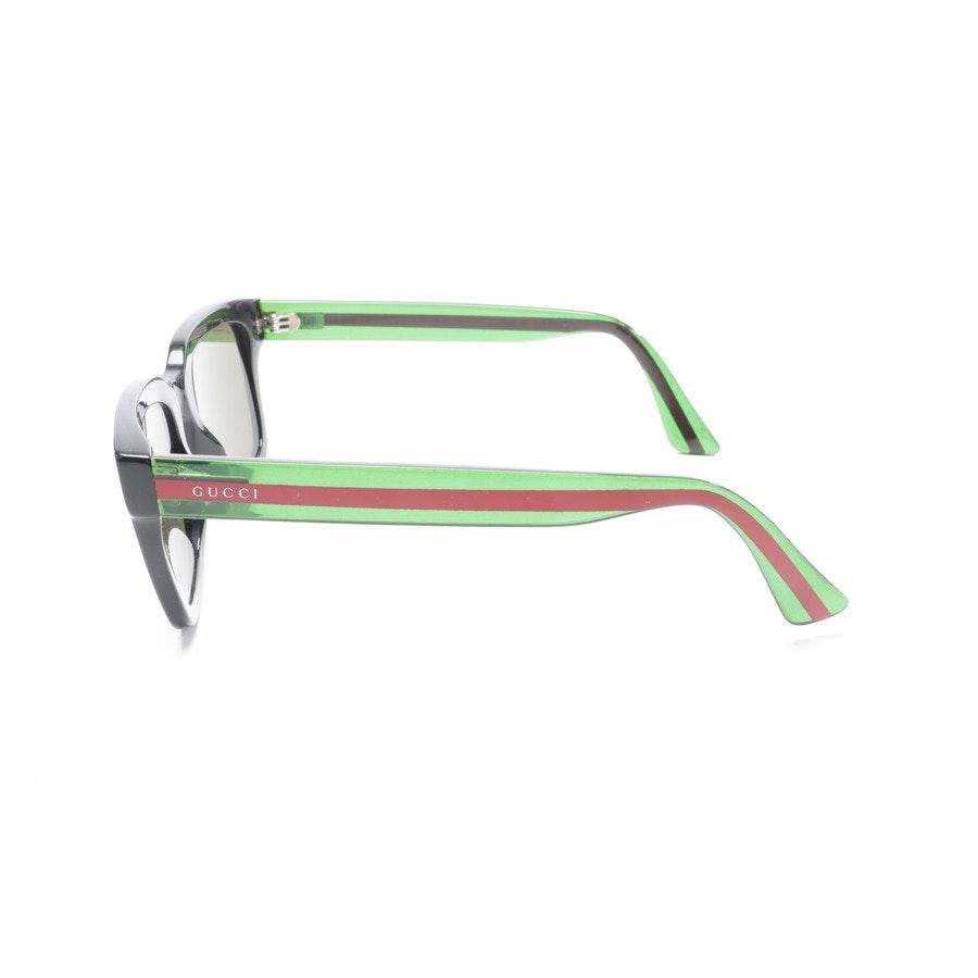 Sonnenbrille von Gucci in Schwarz und Mehrfarbig GG0001S
