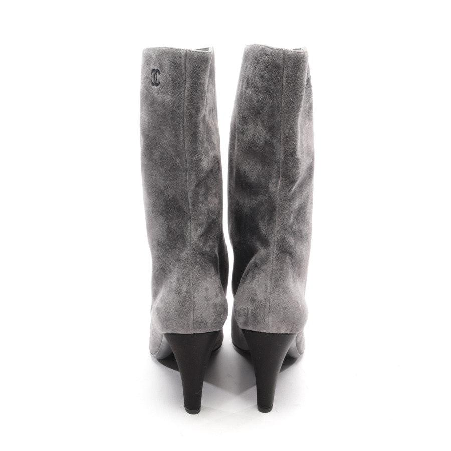 Stiefel von Chanel in Grau und Schwarz Gr. EUR 41 Neu