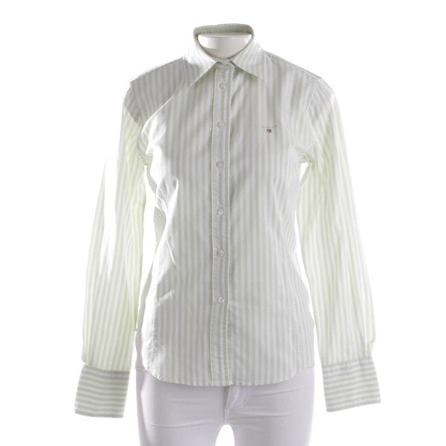 Bluse von Gant in Pastellgrün und Weiß Gr. 36