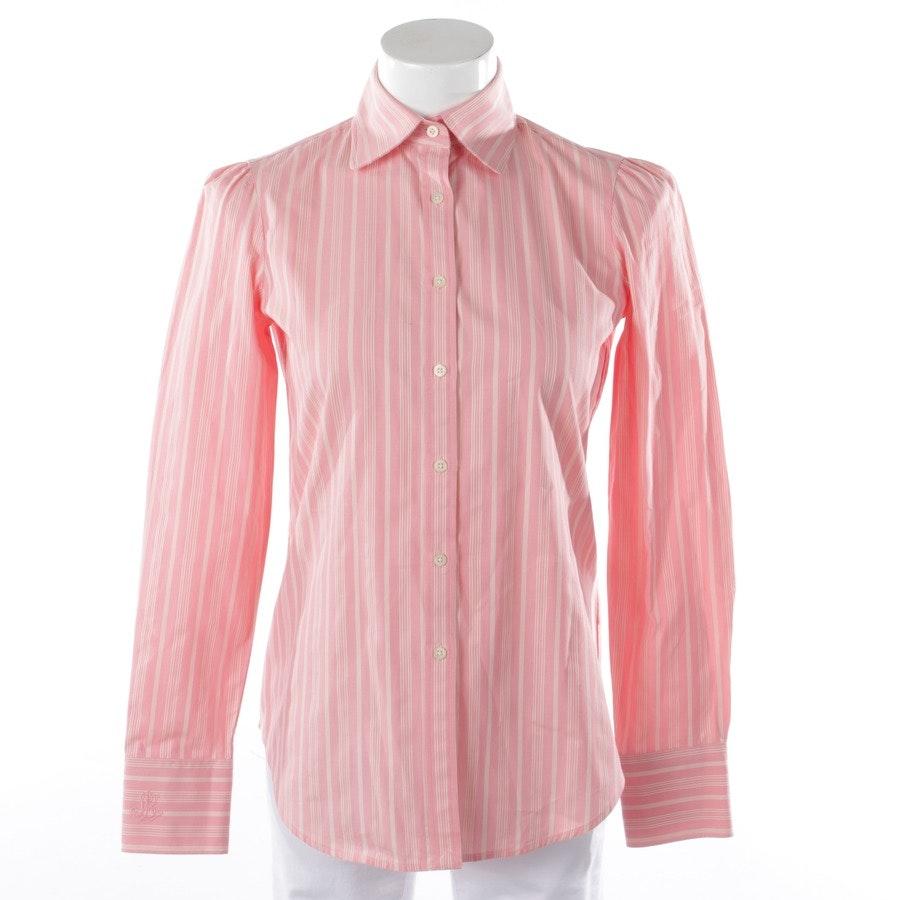 Bluse von Lauren Ralph Lauren in Altrosa und Weiß Gr. XS
