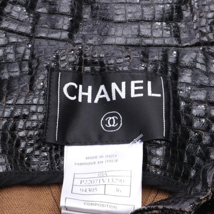 Übergangsjacke von Chanel in Schwarz und Braun Gr. 34 FR 36