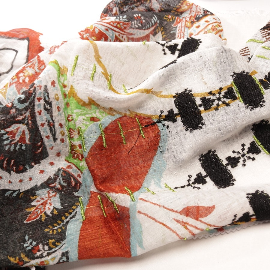 scarf from Etro in white and multicolored