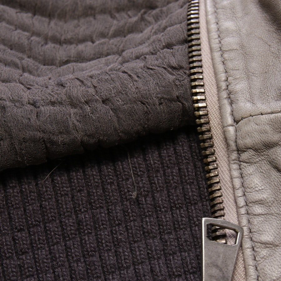 leather jacket from Giorgio Brato in gray size 40 IT 46