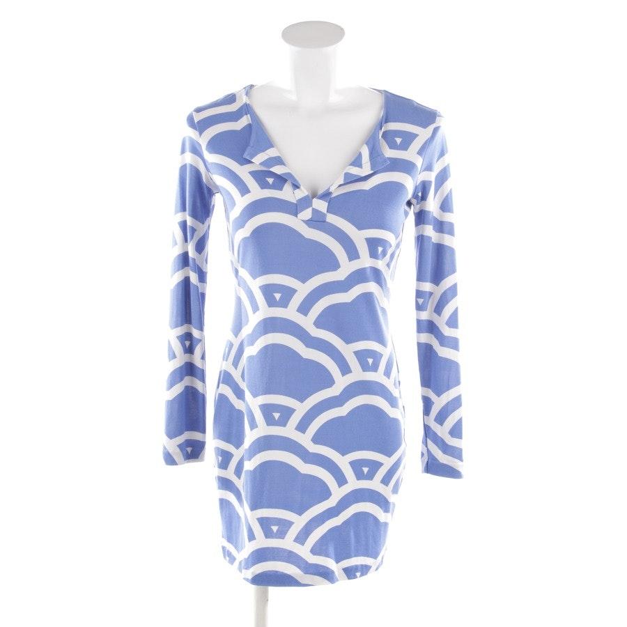 Seidenjerseykleid von Diane von Furstenberg in Himmelblau und Weiß Gr. 36 US 6