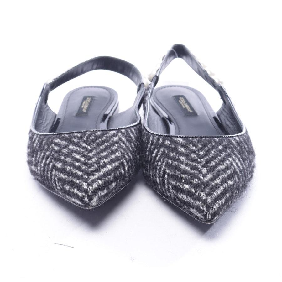 Slingbacks von Dolce & Gabbana in Grau und Schwarz Gr. EUR 38