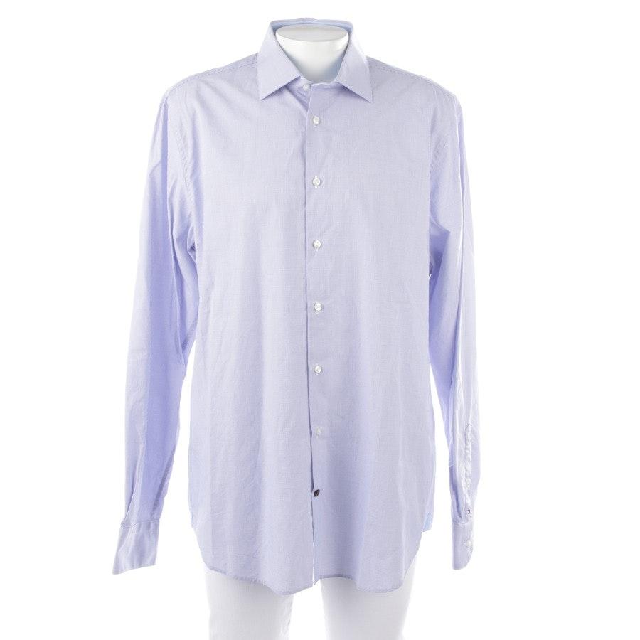 Freizeithemd von Tommy Hilfiger in Weiß und Blau Gr. 45-46